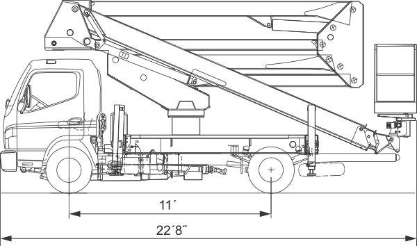 S-92_Truck_Dimensions Truck Mounted Access Platform S - 92'
